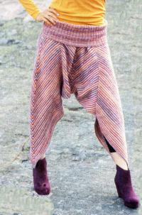 Как связать спицами штаны в этническом стиле