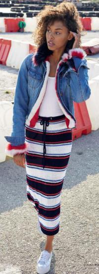 Как связать спицами цветная юбка за завязках