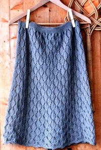 Вязание юбки ромбом