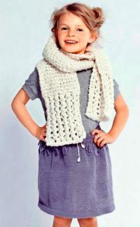 Как связать спицами юбка для девочки с бусинами