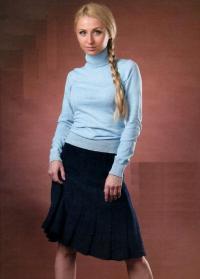 Как связать спицами юбка клеш до колена