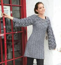 вязаные платья для женщин схемы крючком с описанием