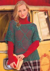 Как связать крючком прозрачный сетчатый пуловер