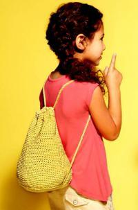 Как связать спицами рюкзак-мешок для детей