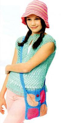 Как связать спицами сумка с цветным узором через плечо