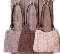 Как связать спицами сумочка с кожаным ремешком со звездочками