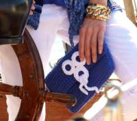 Как связать спицами сумочка в морском стиле