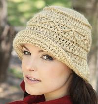 Как связать крючком шляпка с рельефным узором