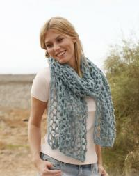Как связать крючком объемный сетчатый шарф