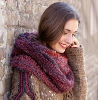 Как связать крючком объемный шарф-хомут из меланжевой пряжи