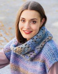 Как связать крючком шарф-хомут в стиле пэчворк