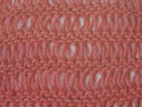 Фото узоры со снятыми (вытянутыми) петлями, вязаные спицами крючком