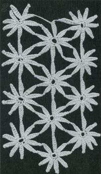 Фото узор ажурные полотна №1428 крючком