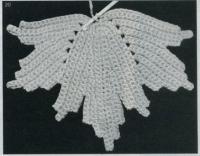 Фото узор классический листик №1437 крючком