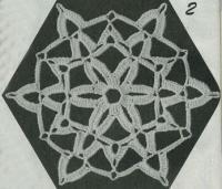 Фото шестиугольные мотивы (2) крючком