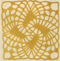 Фото узор ажурный квадрат №1264 крючком