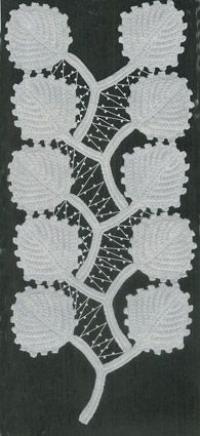 Фото узор листок №1436 крючком