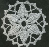 Фото узор из кружев рецителло №1482 крючком