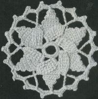 Фото узор круглые мотивы №1483 крючком