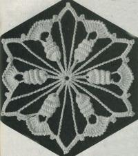 Фото узор шестиугольные мотивы №1417 крючком