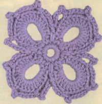 Фото узор цветочный №1589 крючком