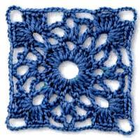 Фото вязание квадрата №3807 крючком