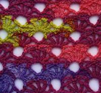 Фото цветной узор №4090 крючком