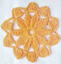 Фото узор цветы №4149 крючком