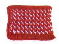 Фото узор тунисское вязание №4259 крючком