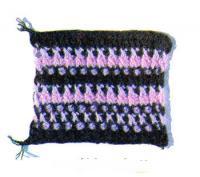 Фото узор кустики тунисское вязание №4260 крючком