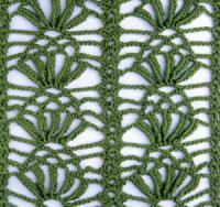 Фото узор стилизованные листья №1714 крючком