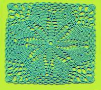 Фото вязание квадрата №3794 крючком
