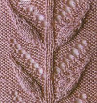 Фото узор гирлянда из цветов №1314 спицами