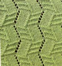 Фото узор ажурный №1624 спицами