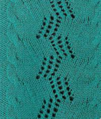 Фото узор ажурный №1640 спицами