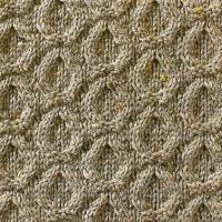 Фото узор из кос (жгутов) №1791 спицами