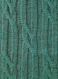 Фото узор из кос (жгутов) №1794 спицами