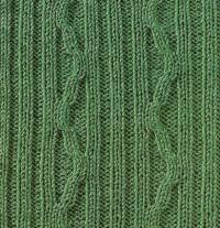 Фото узор из кос (жгутов) №1795 спицами