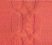 Фото узор косы и жгуты №3740 спицами