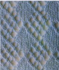 Фото узор мозаика из ромбов №1214 спицами