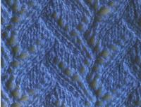 Фото узор с ложными косами №1221  спицами