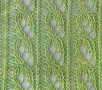 Фото узор ажурные дорожки с косами №1243 спицами