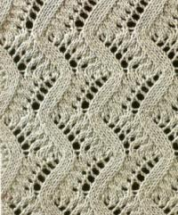Фото узор ажурные волны №1643 спицами