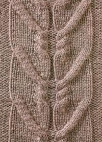 Фото узор из кос (жгутов) №1772 спицами