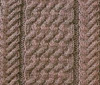 Фото узор из кос (жгутов) №1773 спицами