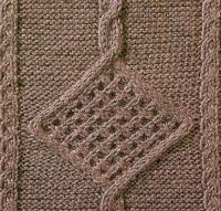 Фото узор из кос (жгутов) №1774 спицами