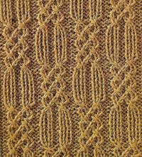 Фото узор из кос (жгутов)№1776 спицами