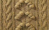 Фото узор из кос (жгутов) №1777 спицами