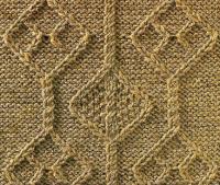 Фото узор из кос (жгутов)№1778 спицами