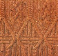 Фото узор из кос (жгутов) №1779 спицами